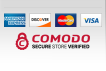 We accept Visa, Mastercard, American Express and PayPal! Rest assured - your online shopping is protected by 256-bit encryption with GeoTrust